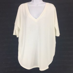 Short sleeve top ribbed jersey knit sz US 8